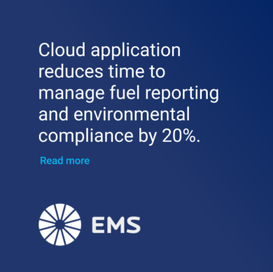 EMS Cloud application for fuel reporting and compliance