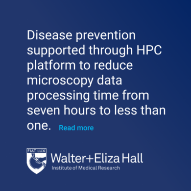 Walter + Eliza Hall HPC platform for disease prevention